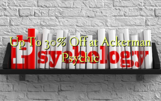 Up To 30% Off at Ackerman Psychic