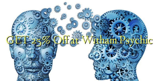 Pata 25% Off at Witham Psychic