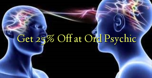 Pumzika 25% Or Or Psychic