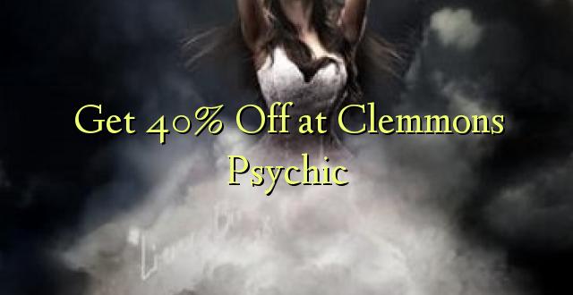 Pata 40% Toa kwenye Clemmons Psychic