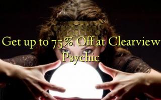Få op til 75% Off ved Clearview Psychic
