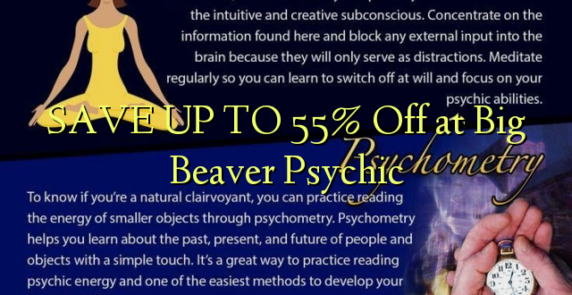 BONYEZA KWA 55% Off at Big Beaver Psychic