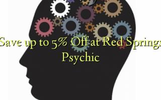 Gem op til 5% Off ved Red Springs Psychic