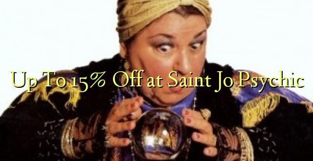 Hadi kwa 15% Toa kwenye Saint Jo Psychic