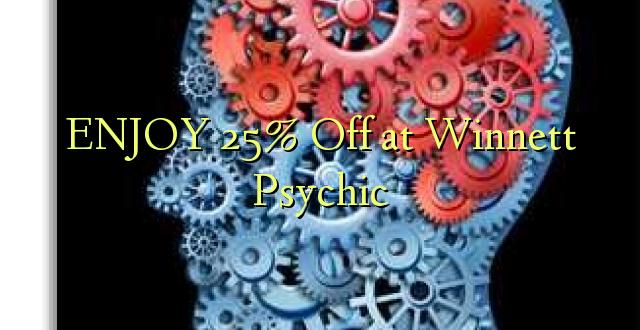 ENJOY 25% Off at Winnett Psychic