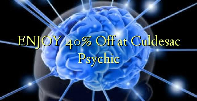 ENJOY 40% Off at Culdesac Psychic