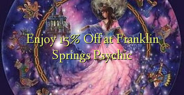 Furahiya 15% Off katika Franklin Springs Psychic