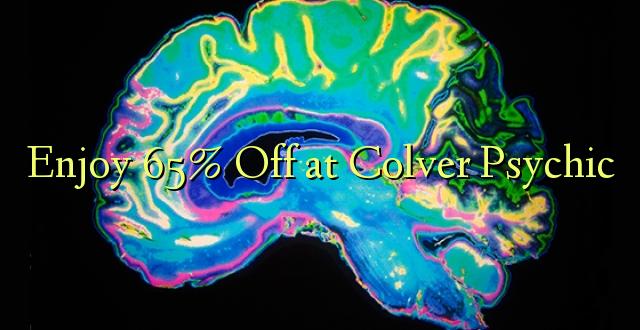 Enjoy 65% Off Colver Psychic