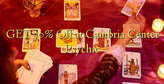 Pata 70% Omba kwenye Kituo cha Psychic cha Cambria
