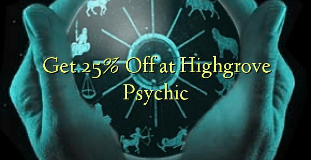 Pata 25% Off at Highgrove Psychic