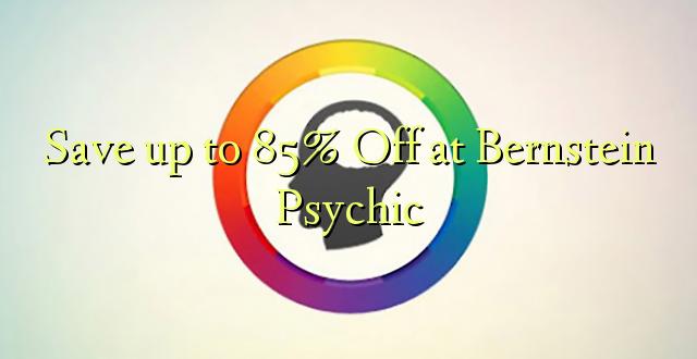 Okoa hadi 85% Off huko Bernstein Psychic