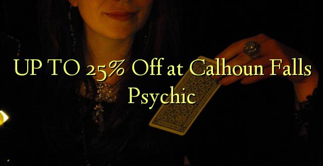 Hadi 25% iko katika Calhoun Falls Psychic