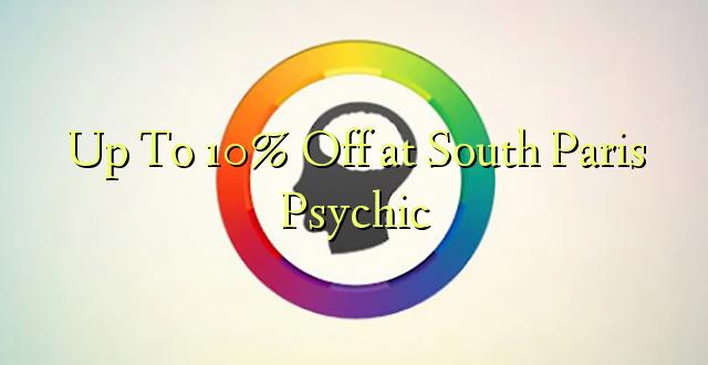 Hadi kufikia 10% Off at South Paris Psychic