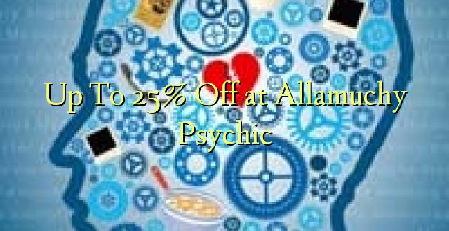 Hadi kufikia 25% Off at Allsociy Psychic