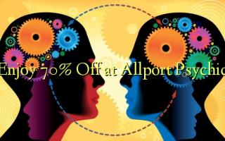 በ Allport Psychic በ 70% ቅናሽ ይደሰቱ