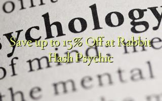 Gem op til 15% Off på Kanin Hash Psychic