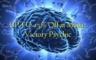 OP TIL 25% Off på Mount Victory Psychic