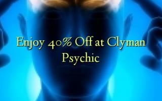 Furahia 40% Toa kwenye Clyman Psychic