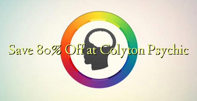 Hifadhi 80% Omba kwenye Colyton Psychic