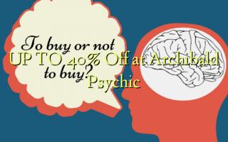 OP TIL 40% Off ved Archibald Psychic