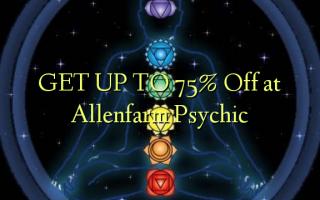 KRIJG TOT 75% korting bij Allenfarm Psychic