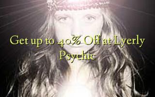 Krijg tot 40% korting bij Lyerly Psychic