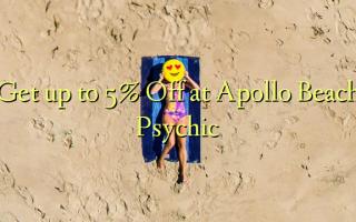 Apollo သဲသောင်ပြင်အကြားအမြင်ရမှာဟာ Off 5% အထိ Get
