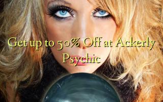 Få op til 50% Off på Ackerly Psychic