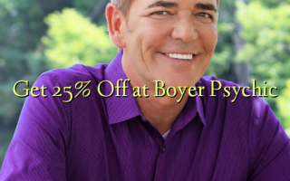 Get 25% Off at Boyer Psychic