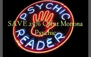 Gem 25% Off ved Monona Psychic