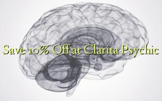 Save 10% Off at Clarita Psychic