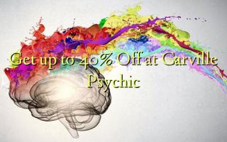 Iegūstiet līdz 40% off pie Carville Psychic