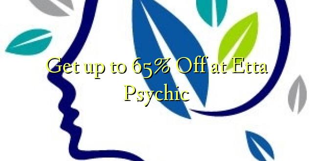 Få op til 65% Off på Etta Psychic