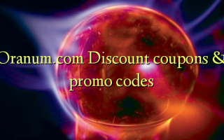 & Oranum.com discount coupon codes